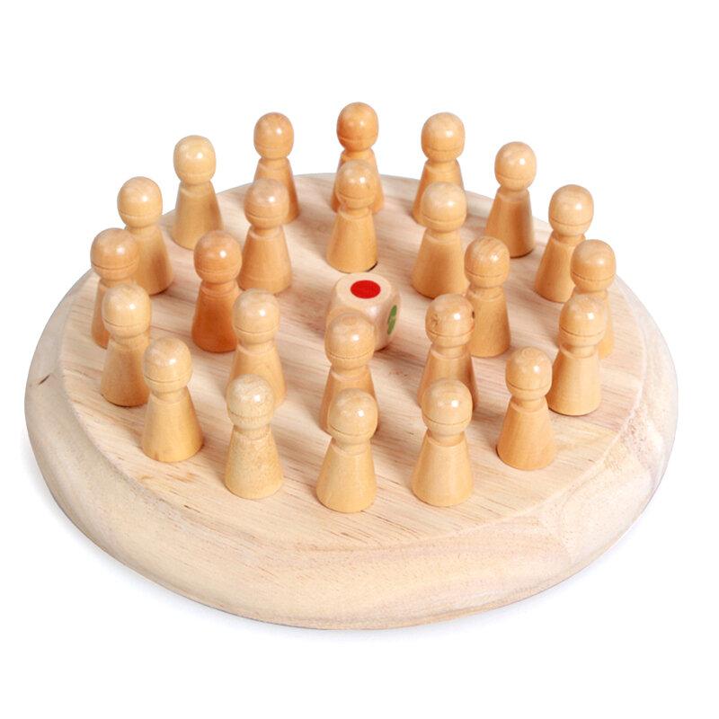 لعبة ذاكرة خشبية للأطفال لعبة شطرنج لعبة كتلة مرحة لعبة تعليمية بألوان معرفية قدرة لعبة للأطفال