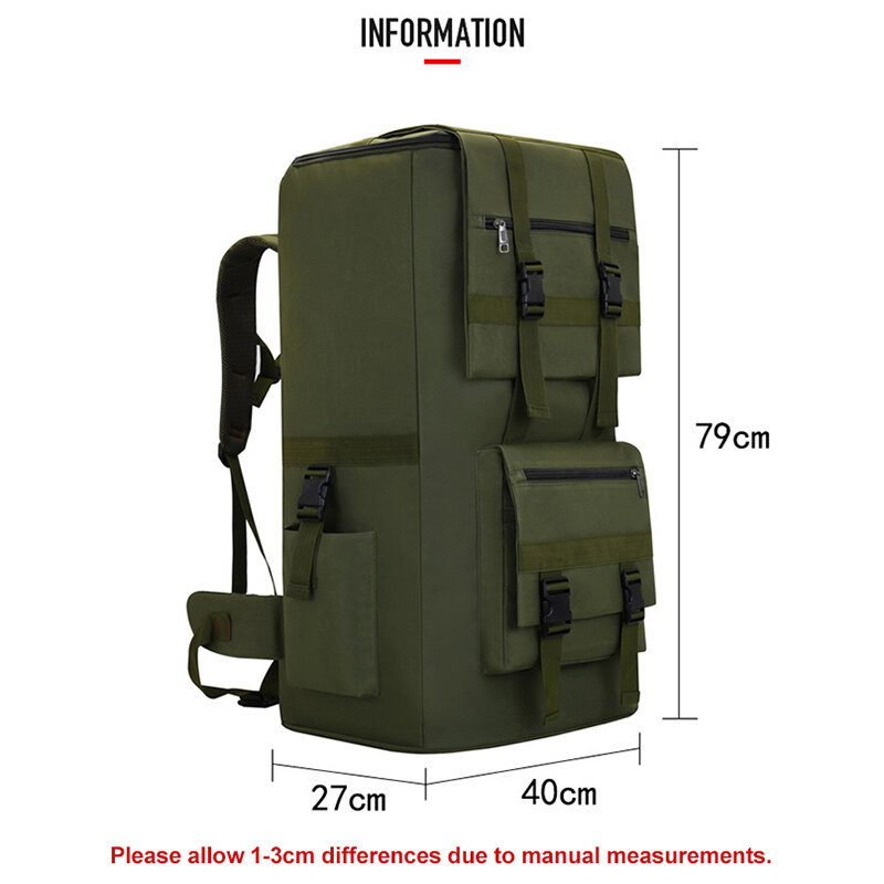 120L العسكرية التكتيكية الرياضة على ظهره سعة كبيرة في الهواء الطلق تسلق الجبال التنزه التخييم حقيبة للسفر حقيبة الأمتعة XA742F