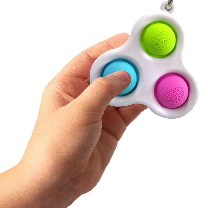 الأطفال الكبار الإبداعية بسيطة الدمل ألعاب متململة بوبس الدهون الدماغ اللعب الضغط المخلص مجلس الضغط لعبة Антистресс 20