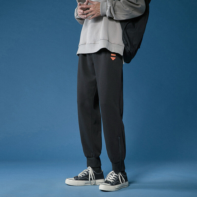 الرجال الفضفاضة سراويل للجري النمط الياباني الساخن بلون الرجال فضفاض Sweatpants كامل طول سراويل تقليدية التدريب الصالة الرياضية Elast