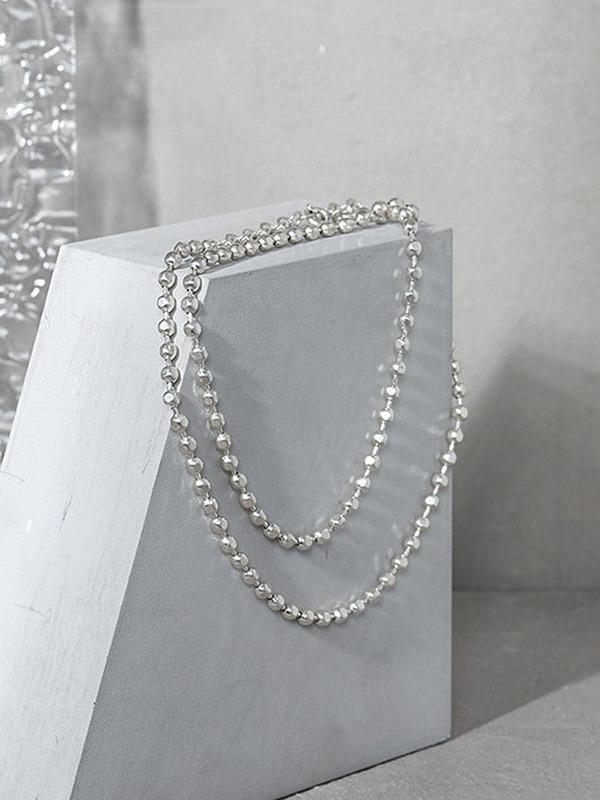 S'STEEL فضة 925 المعلقات والقلائد للنساء مصمم الحد الأدنى هندسية حبة الملمس اكسسوارات مجوهرات
