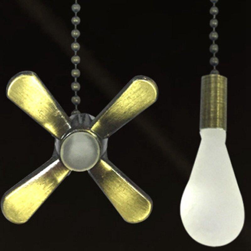 سهلة التركيب ديكور ضوء لمبة اكسسوارات المنزل التصميم كرة مطرزة النحاس دائم العملي قلادة مروحة سقف سحب سلسلة