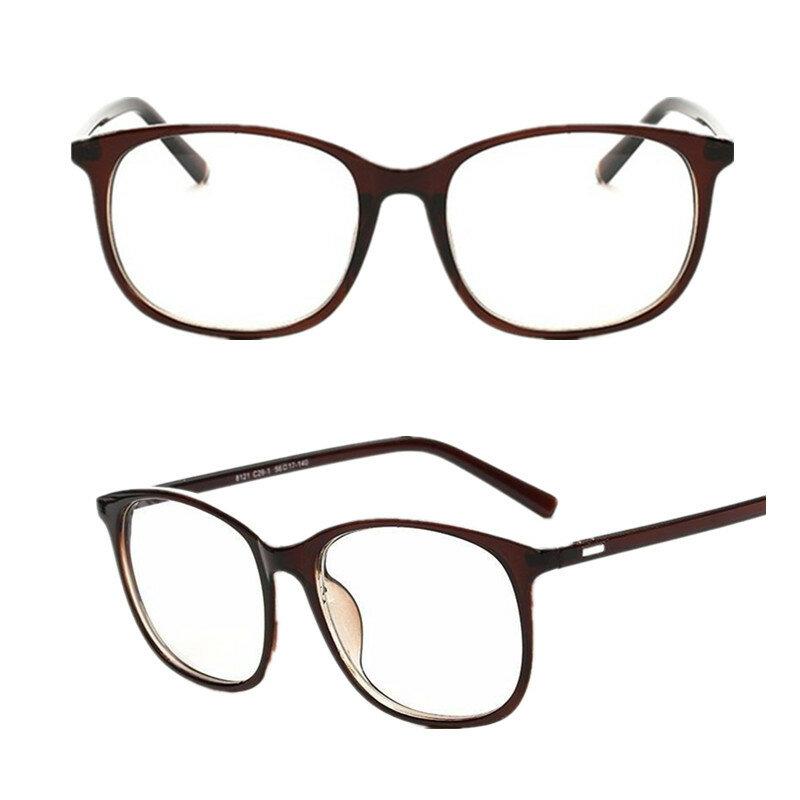 ريترو موضة Vintage الكورية نمط الكمبيوتر حماية واضح عدسة العين نظارات إطار كبير مرآة مسطحة عادي نظارات