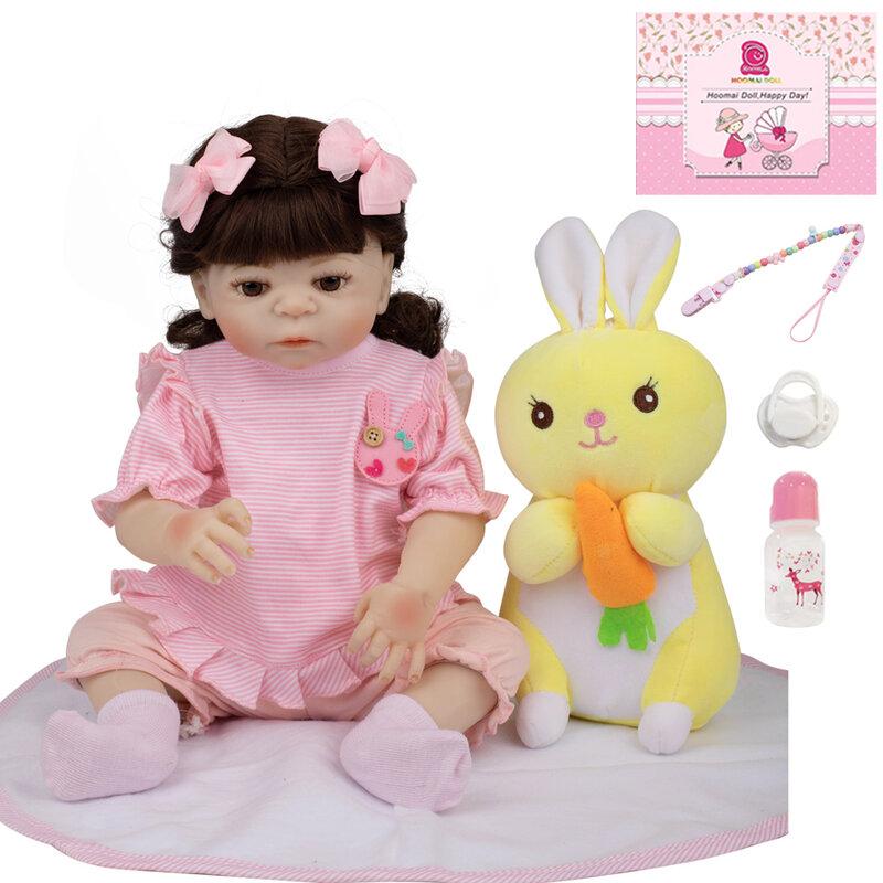 دمية بيبي ريبورن 18 بوصة ، سيليكون ، جسم كامل ، دمية أميرة واقعية مع لعبة للأطفال ، هدايا عيد الميلاد والكريسماس 48 سنتيمتر