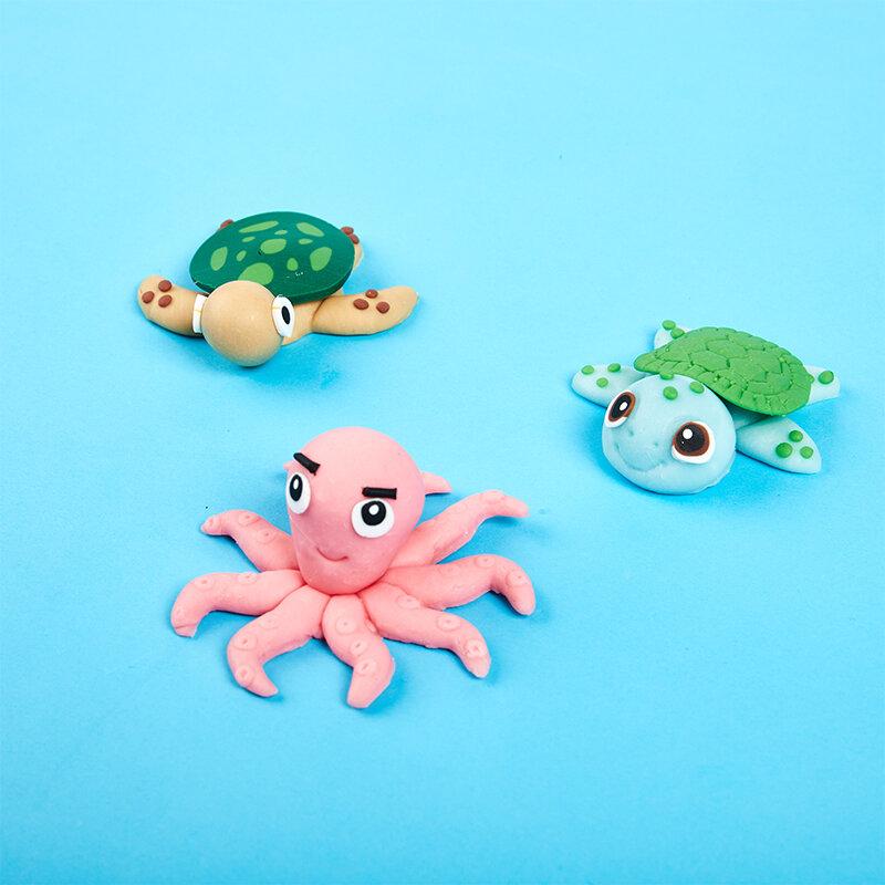 كعكة المحيط موضوع الاطفال كعكة الطرف الديكور حفلة عيد ميلاد كعكة الهدايا البلاستيكية