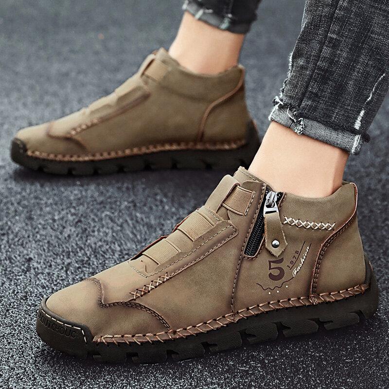 الرجال حذاء من الجلد اليدوية جلد الرجال الأحذية الغربية الكلاسيكية موضة الرجال دراجة نارية الأحذية في الهواء الطلق الرجال أحذية عمل 39-48