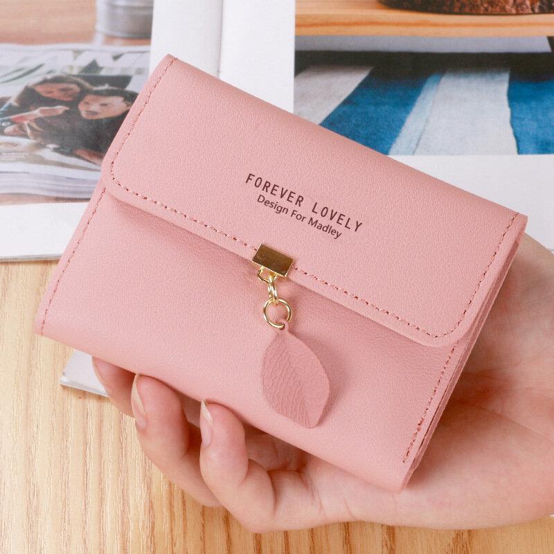 جديد السيدات حقائب صغيرة صغيرة محافظ جلدية للنساء تغيير محفظة السيدات قصيرة عملة جيوب الإناث حقيبة صغيرة monedero mujer