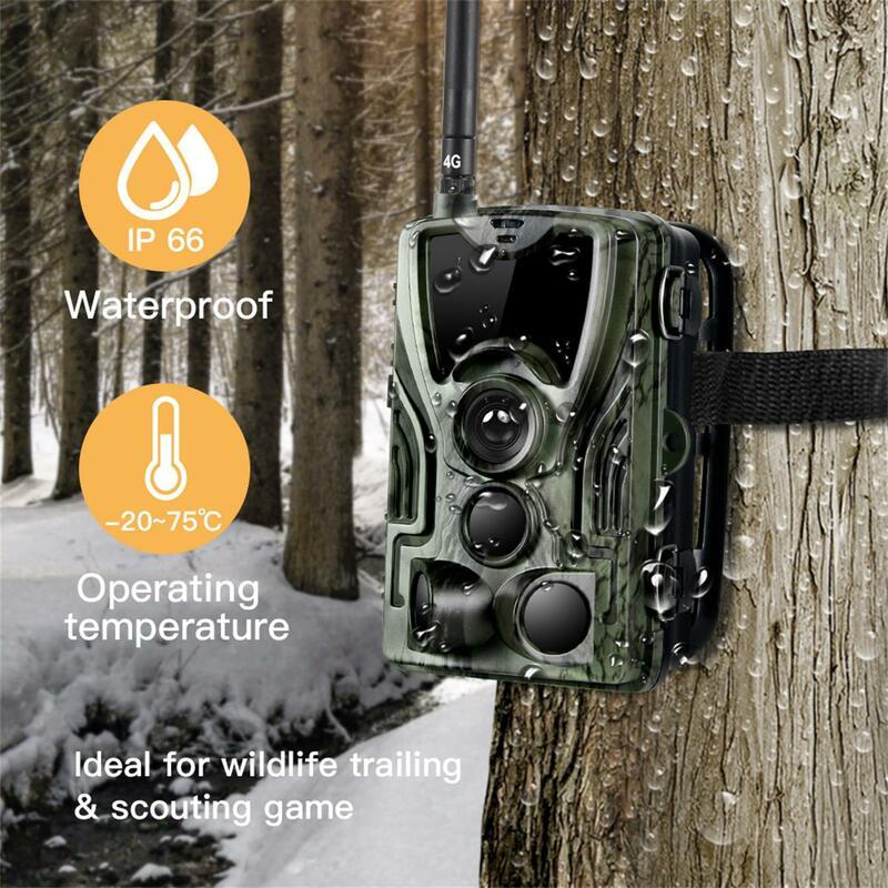 4G الصيد كاميرا تعقب MMS 20MP 1080P اللاسلكية الخلوية الحياة البرية كاميرات 0.3s مراقبة الأشعة تحت الحمراء كاميرا للرؤية الليلية صور فخ