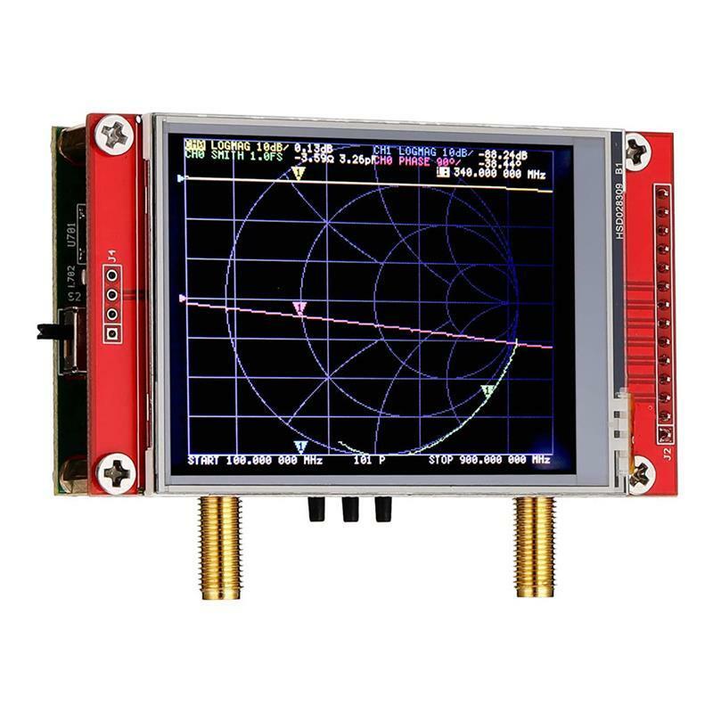NanoVNA V2 3G ناقلات شبكة محلل اختبار هوائي محلل الموجات القصيرة S-A-A-2 نانو Vna كابل المقتفي