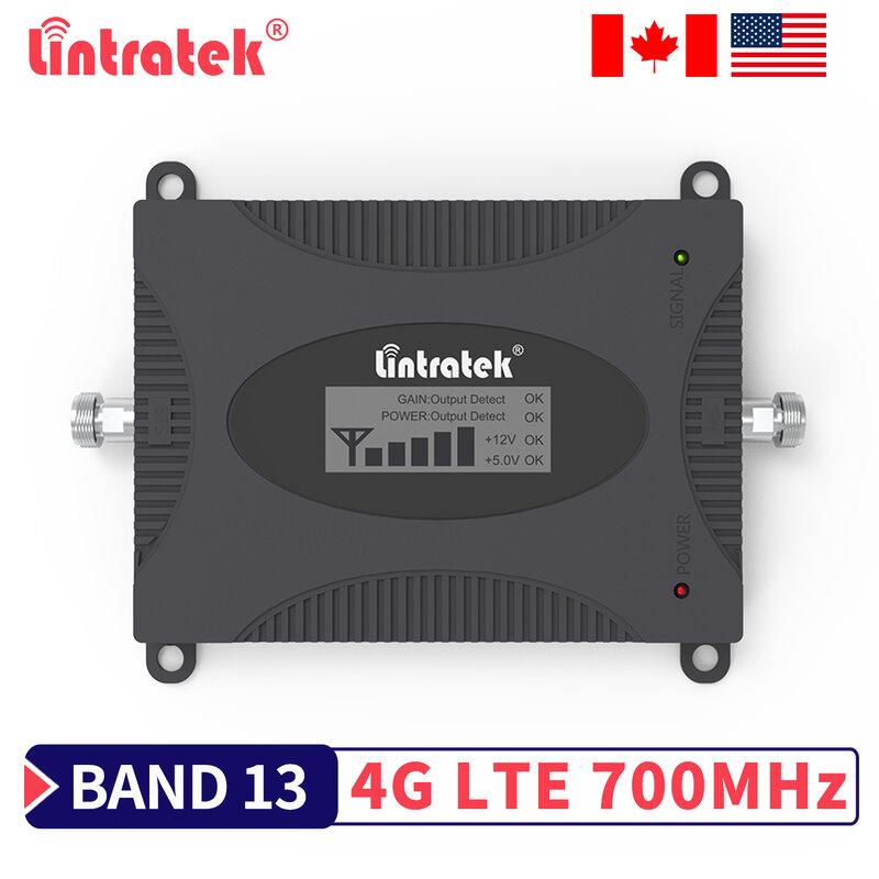 Lintratek LTE B13 700mhz الداعم إشارة 4G الإنترنت الهاتف المحمول مكبر للصوت الخلوي Band13 700 مكرر ل USA كندا