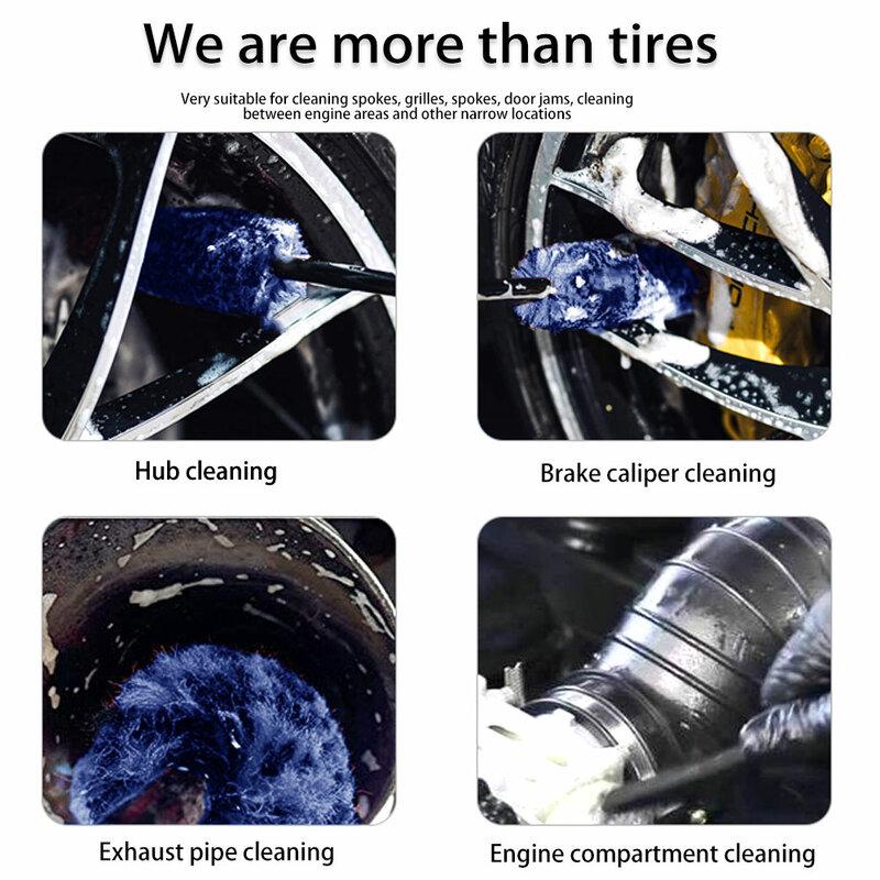 أفضل ستوكات قسط عجلات فرشاة عدم الانزلاق مقبض سهل التنظيف الحافات المتحدث عجلة برميل و الفرامل الفرجار