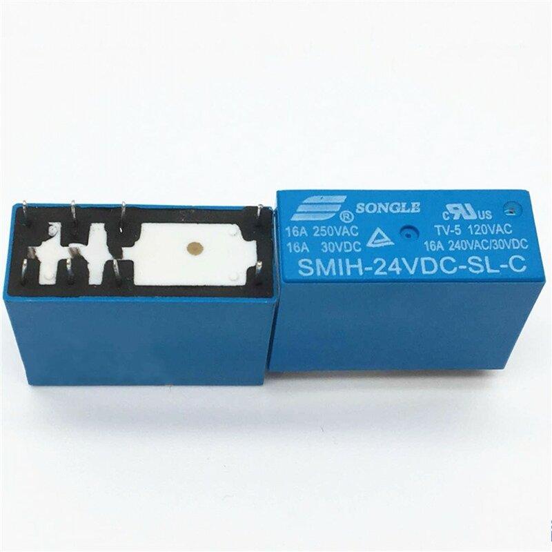 10 قطعة/الوحدة السلطة التبديلات SMIH-24VDC-SL-C 24 فولت 16A 8PIN مجموعة من التحويلات التتابع الأصلي