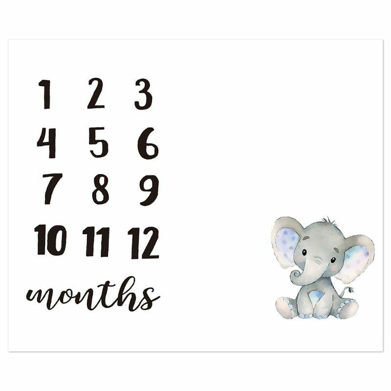 57BF طفل شهري سجل النمو معلم بطانية الوليد لطيف الحيوان نمط القماش