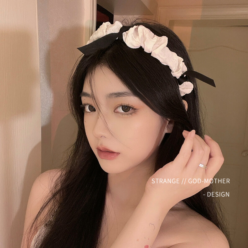 اليابانية جميلة لوليتا bowknot الإناث الشعر هوب الإناث الصيف المد خادمة بطاقة الشعر غطاء الرأس جميل الخروج عقال