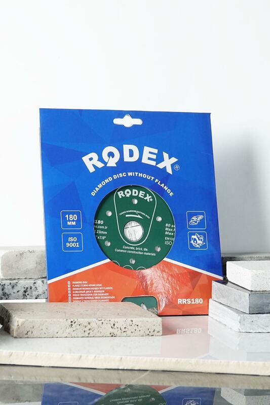 Rodex RRS180-قرص تقطيع ماسي توربو ، قناة 180 مللي متر ، للرخام والطوب والجرانيت والأحجار