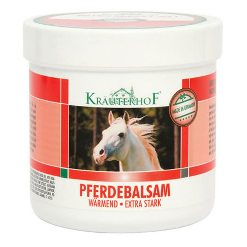 Krauterhof Pferdebalsam Warmend اضافية ستارك الاحترار زيت تدليك الحصان الكستناء بلسم 250 مللي