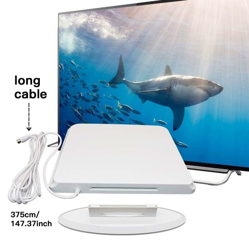 DVB T2 4K HD داخلي وخارجي تضخيم HD هوائي التلفزيون الرقمي 1500 ميل المدى-دعم 4K 1080p داخلي مكبر للصوت إشارة الداعم