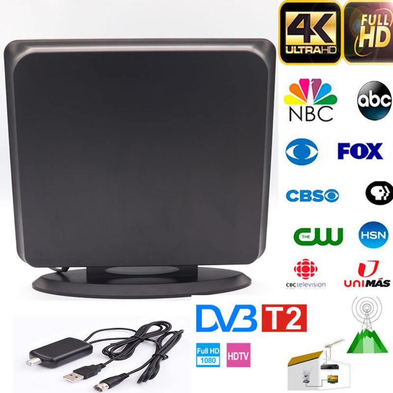 2021 جديد داخلي رقمي HDTV هوائي التلفزيون 1500 ميل دائرة نصف قطرها مكبر للصوت DVB-T2 isdb-tb واضح الأقمار الصناعية طبق إشارة استقبال الجوي
