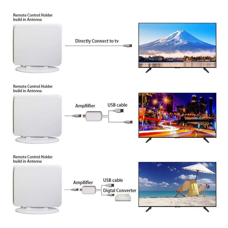 DVB T2 4K HD 8K 4K هوائي التلفزيون 800 ميل المدى جهاز استقبال للتليفزيون الرقمي داخلي HDTV 1080P جهاز استقبال الإشارات مكبر للصوت ل VHF UHF