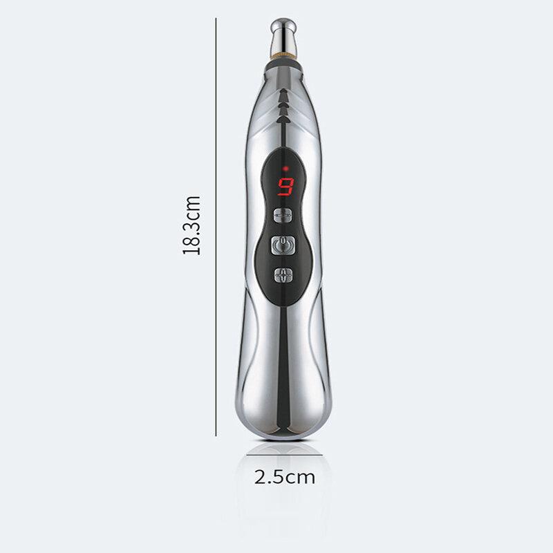 نقطة الوخز بالإبر الكهربائية قلم تدليك الذكية نبض مدلك العلاج ميريديان القلم أدوات لتخفيف الآلام الليزر الطاقة قلم تدليك