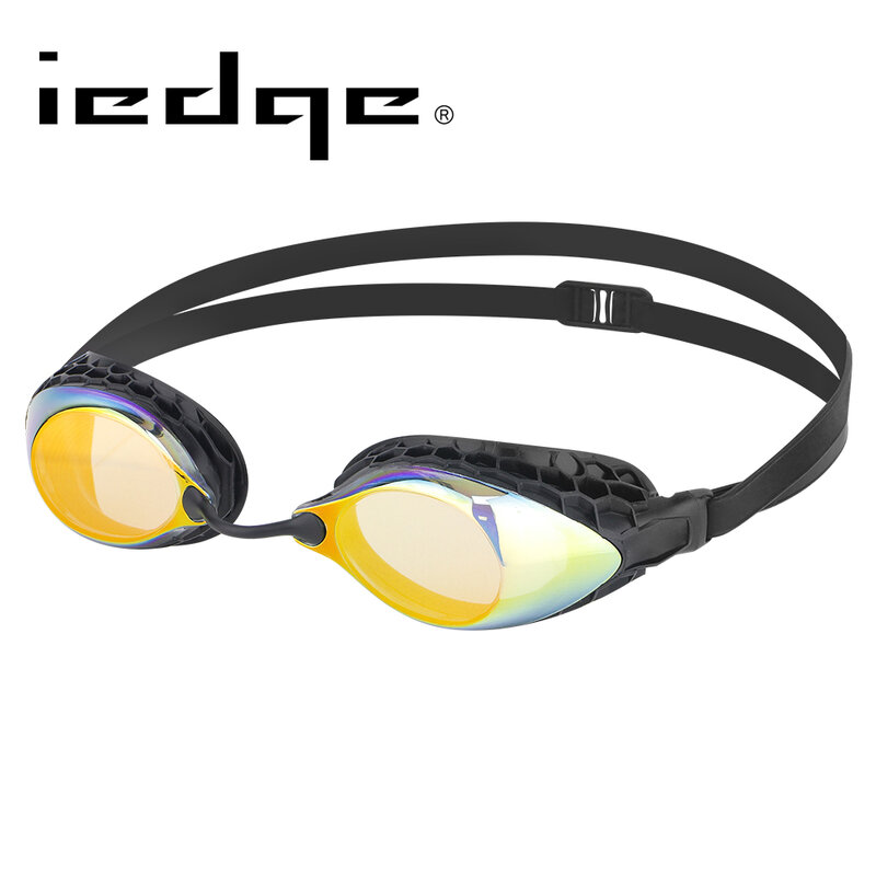Barracuda iedge نظارات الوقاية للسباحة مكافحة الضباب فوق البنفسجية حماية للكبار # VG-953 الذهب